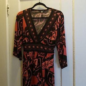 3/4 Sleeve V-neck dress